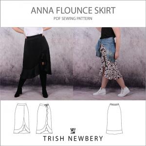 Anna Flounce Skirt - Pattern 1937