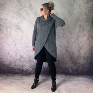 Pattern 2030 Talia Wrap Hoodie Trish Newbery Design