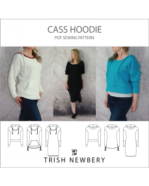 Cass Hoodie Sweater Dress or Rushed sides /banded crop - 3 in one