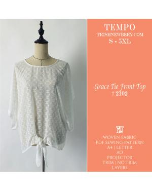 Tempo Grace Tie Front Top