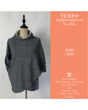 Tempo Amber Capelet Sewing Pattern 2104