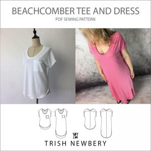 Pattern 1834 Beachcomber Tee and Dress Sewing Pattern Trish Newbery