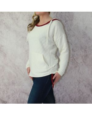 Cass Hoodie Sweater Dress or Rushed sides /banded crop - 3 in one Trish Newbery Sewing Patterns