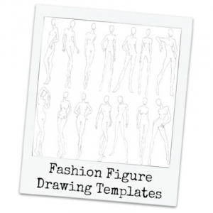 Print at Home Fashion Figure Drawing Templates