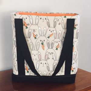 Free Pattern 1724 Lined Shopping Tote Grocery Bag