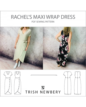 Pattern 1802 Rachels Maxi Wrap Dress