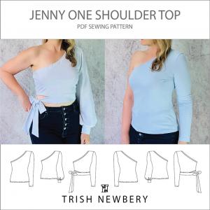 Jenny One Shoulder Top Pattern 2023