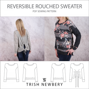 Pattern 1932 Reversible Rouched Sweater