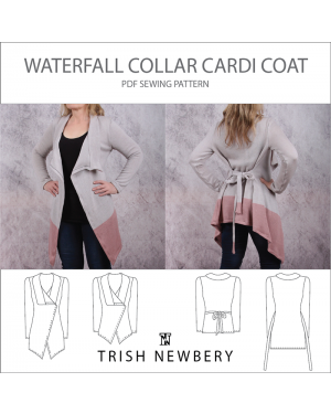Pattern 1935 Waterfall Collar Cardi Coat