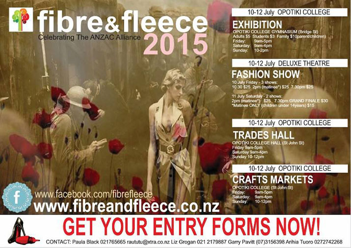 Fibre and Fleece Art and Design Awards NZ Entry Form Guest Judge 2015 Trish Strongman